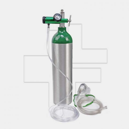 ชุดถังอ๊อกซิเจนทางการแพทย์ แบบอลูมิเนียม ขนาด 0.5Q/MD