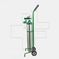 ชุดถังอ๊อกซิเจนทางการแพทย์ แบบอลูมิเนียม ครบชุด(รถเข็น) ขนาด 0.7Q/ME